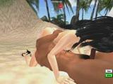 זיון על החוף מצוייר