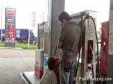 מזדיינת בתחנת דלק