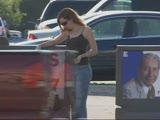 שחור מפרק אישה לבנה חמה באוטו ובבית